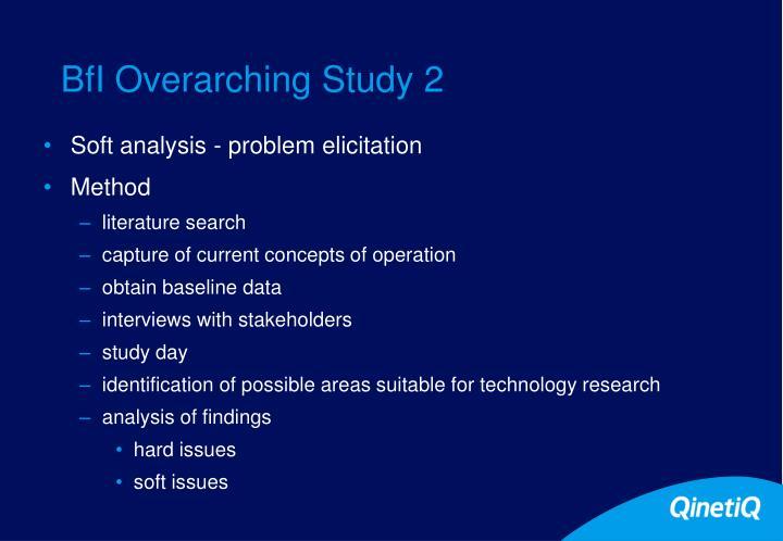 BfI Overarching Study 2