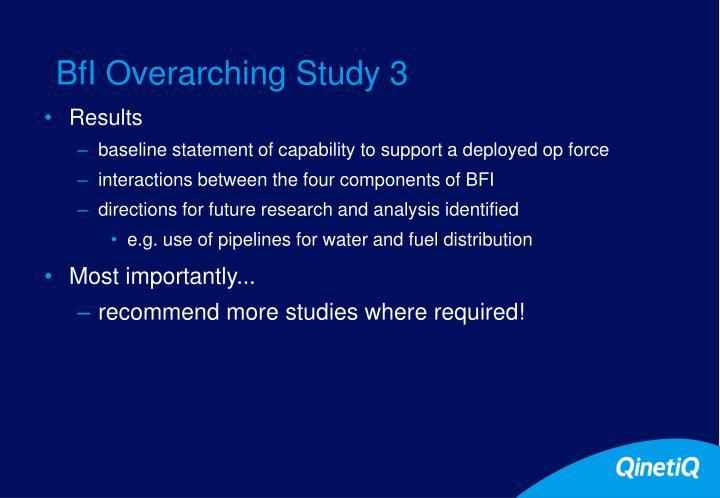 BfI Overarching Study 3