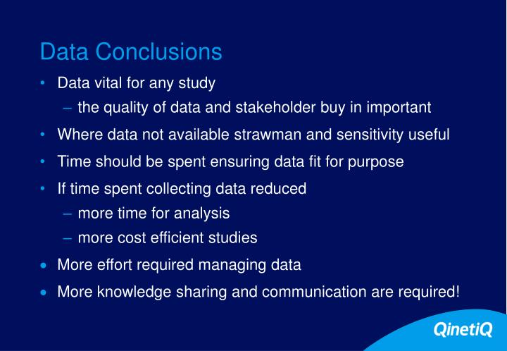 Data Conclusions