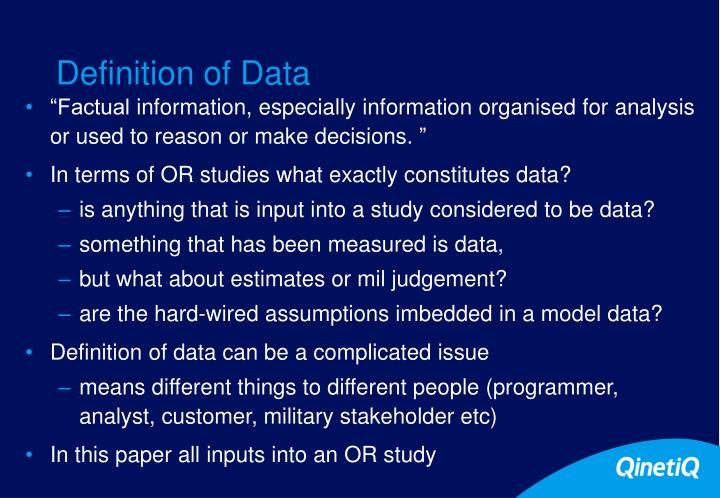 Definition of Data