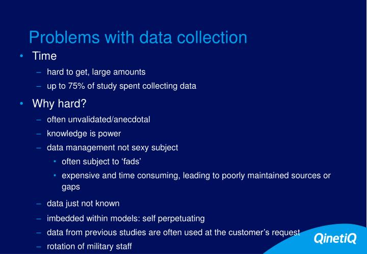 Problems with data collection