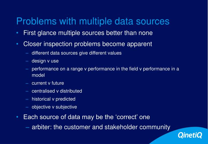 Problems with multiple data sources