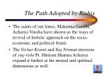 the path adopted by rishis