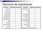 ejercicios de expresiones