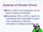 expenses at minooka schools