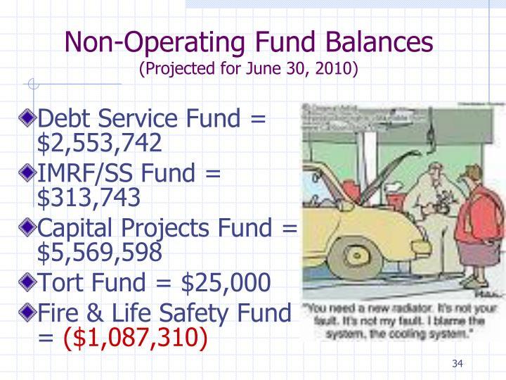 Non-Operating Fund Balances