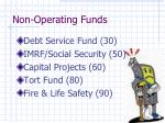 non operating funds