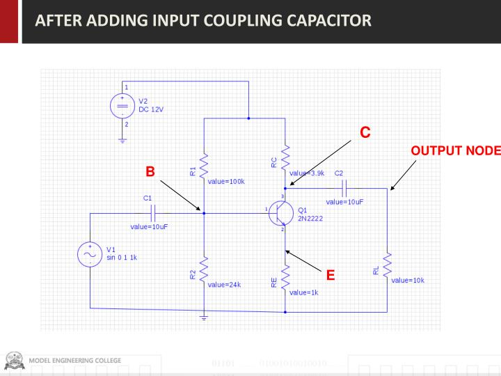 AFTER ADDING INPUT COUPLING CAPACITOR