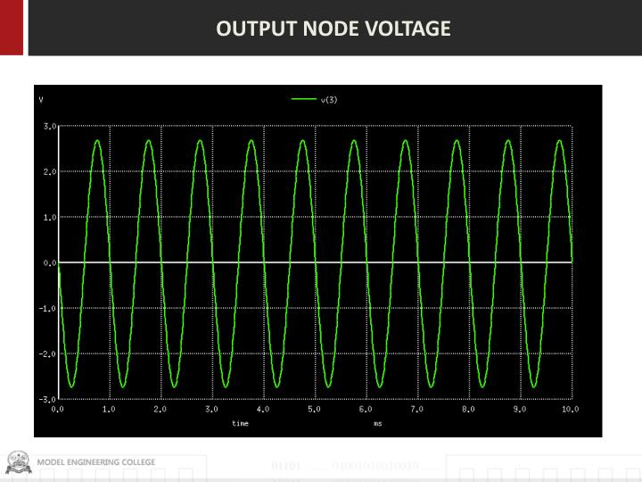 OUTPUT NODE VOLTAGE