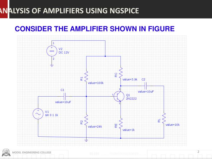 ANALYSIS OF AMPLIFIERS USING NGSPICE