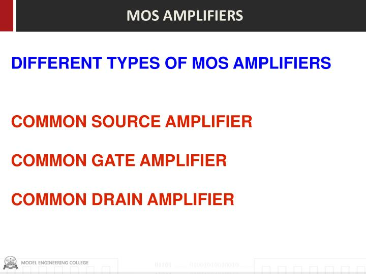 MOS AMPLIFIERS
