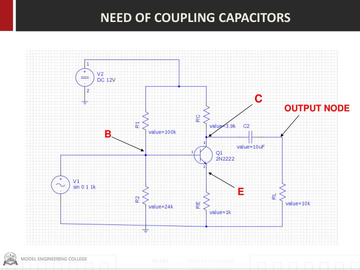 NEED OF COUPLING CAPACITORS