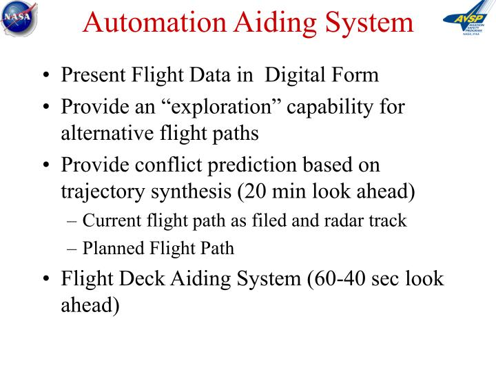 Automation Aiding System