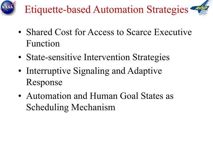 Etiquette-based Automation Strategies
