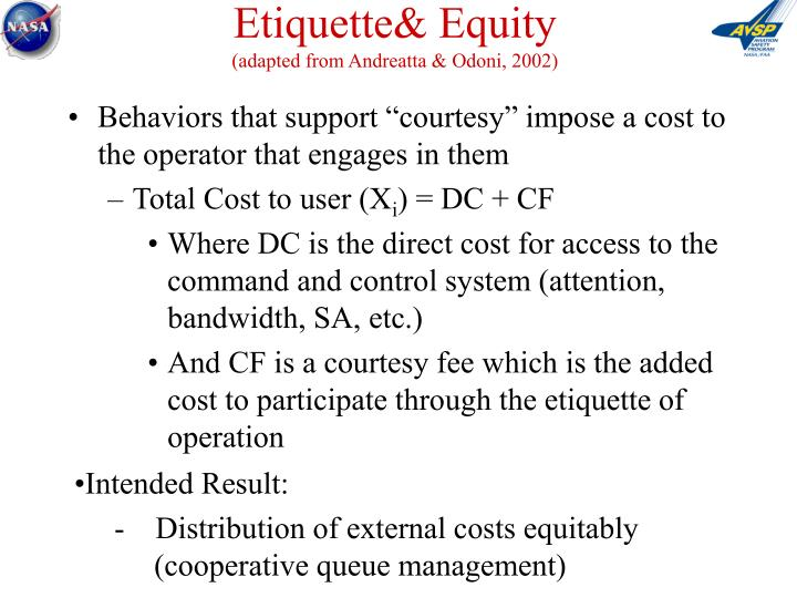 Etiquette& Equity