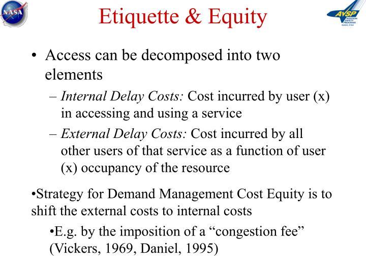 Etiquette & Equity