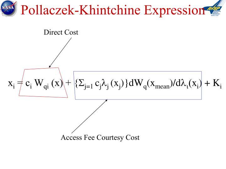 Pollaczek-Khintchine Expression
