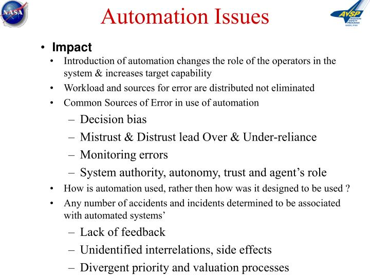 Automation Issues