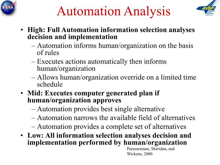 Automation Analysis