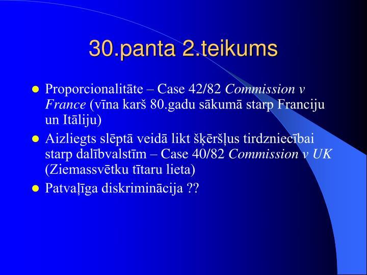 30.panta 2.teikums
