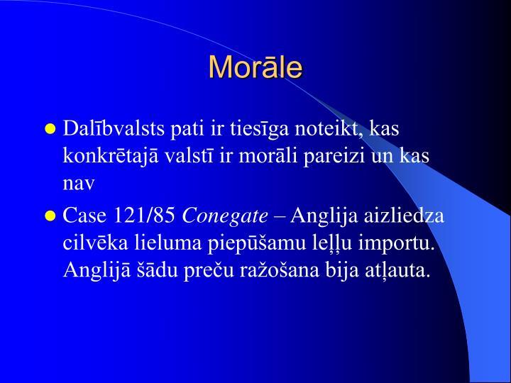 Morāle