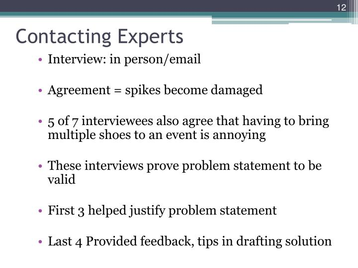 Contacting Experts