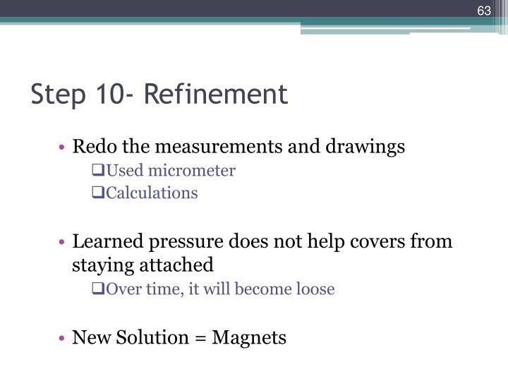 Step 10- Refinement