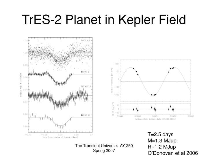 TrES-2 Planet in Kepler Field
