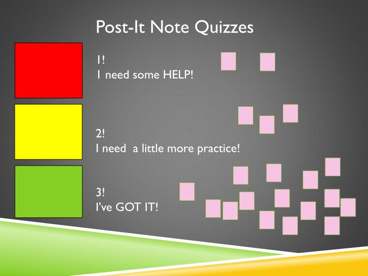 Post-It Note Quizzes