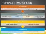 typical format of fals