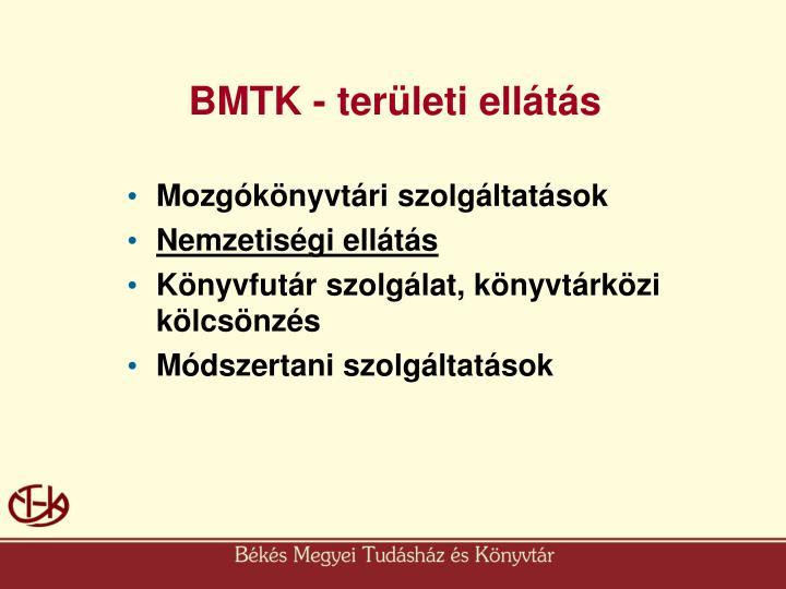 BMTK - területi ellátás