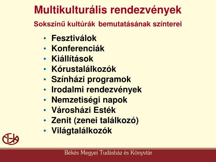 Multikulturális rendezvények