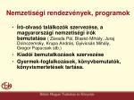nemzetis gi rendezv nyek programok
