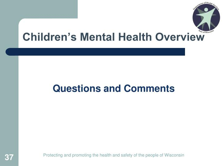 Children's Mental Health Overview