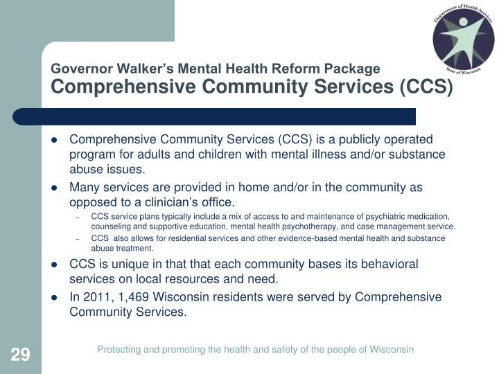 Governor Walker's Mental Health Reform Package