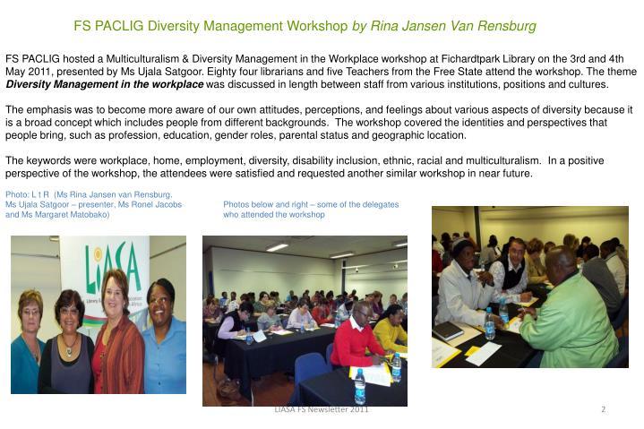 FS PACLIG Diversity Management Workshop
