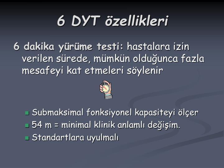 6 DYT özellikleri
