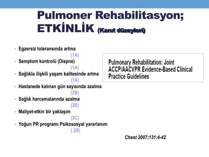 Pulmoner Rehabilitasyon;