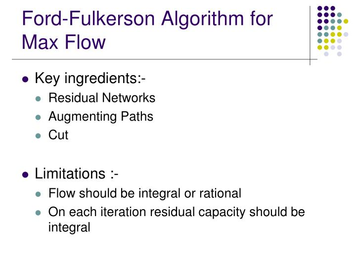 Ford-Fulkerson Algorithm for Max Flow
