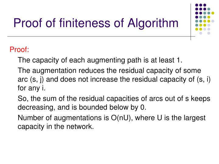 Proof of finiteness of Algorithm