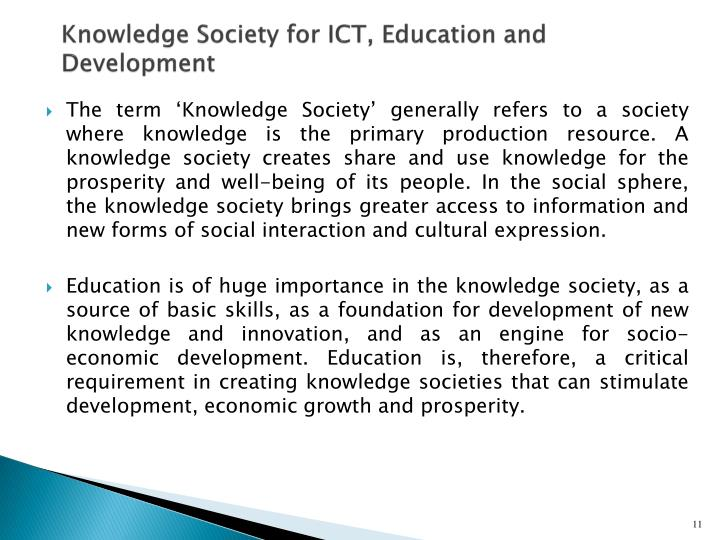 Knowledge Society for ICT, Education and Development