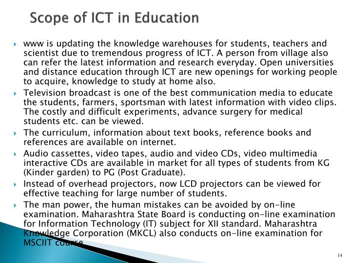 Scope of ICT in Education