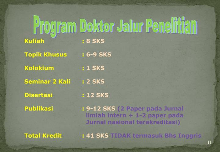 Program Doktor Jalur Penelitian