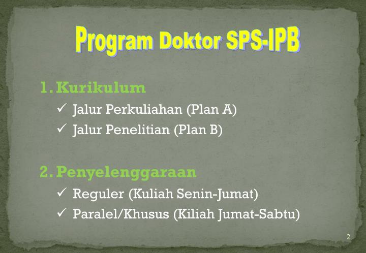 Program Doktor SPS-IPB