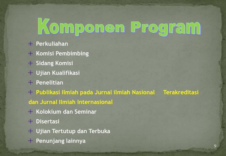 Komponen Program