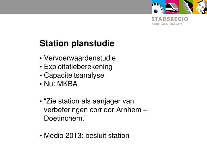 Station planstudie