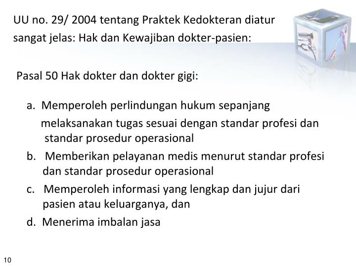 UU no. 29/ 2004 tentang Praktek Kedokteran diat