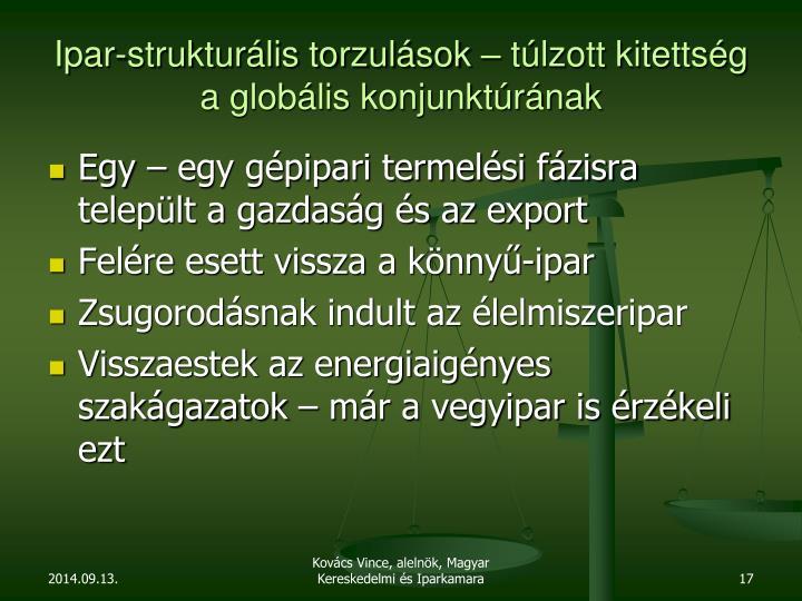 Ipar-strukturális torzulások – túlzott kitettség a globális konjunktúrának