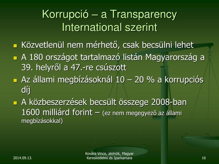 Korrupció – a