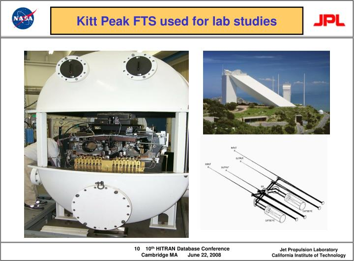 Kitt Peak FTS used for lab studies